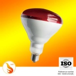 red bulb heating infrared lamp